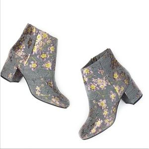 Zigi Soho Nydia Embroidered Ankle Boots Block Heel